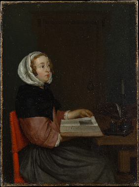 <p><b><i>The Reader</i>, 1660<br/>Eglon van der <br/>Neer</b><br/><br/></p>