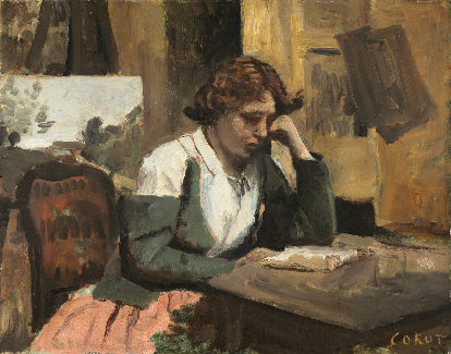 <p><b><i>Young Girl Reading</i>, 1868<br/>Jean-Baptiste Camille <br/>Corot</b><br/><br/></p>