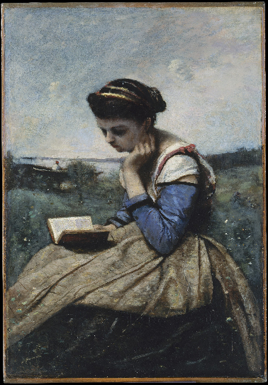 <p><b><i>A Woman Reading</i>,<br/>1869-1870<br/>Jean-Baptiste Camille Corot</b><br/><br/></p>