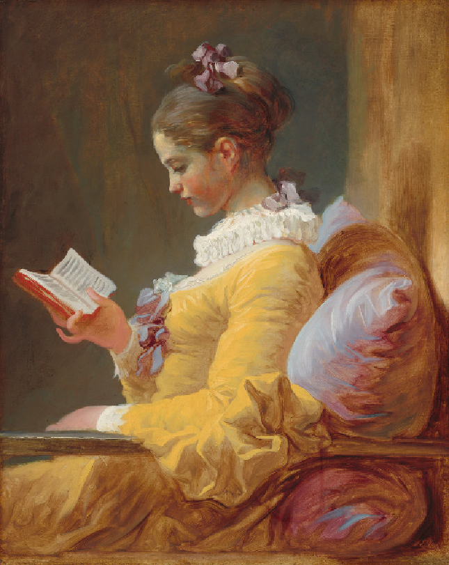 <p><b><i>Young Girl Reading</i>, 1770<br/>Jean-Honoré Fragonard</b><br/><br/></p>