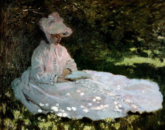 <p><b><i>La liseuse ou printemps</i>, 1872<br/>Claude Monet</b><br/><br/></p>