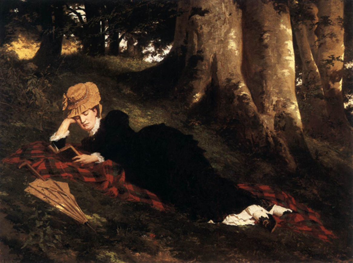 <p><b><i>Reading Woman in the Forest</i>, 1875<br/>Gyula Benczur</b><br/><br/></p>