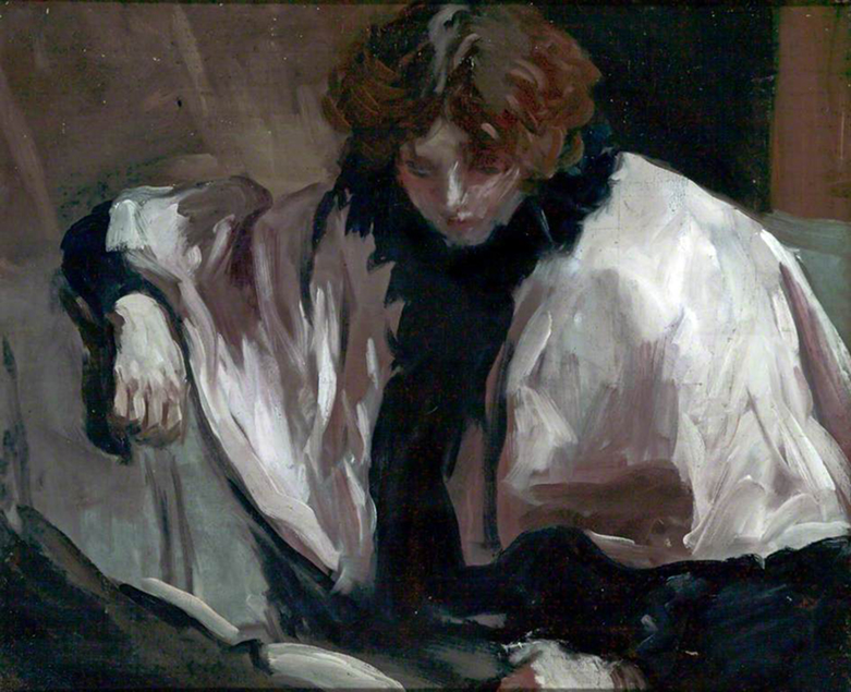 <p><b><i>A Girl Reading a Book</i>, 1895<br/>Philip Wilson Steer</b><br/><br/></p>