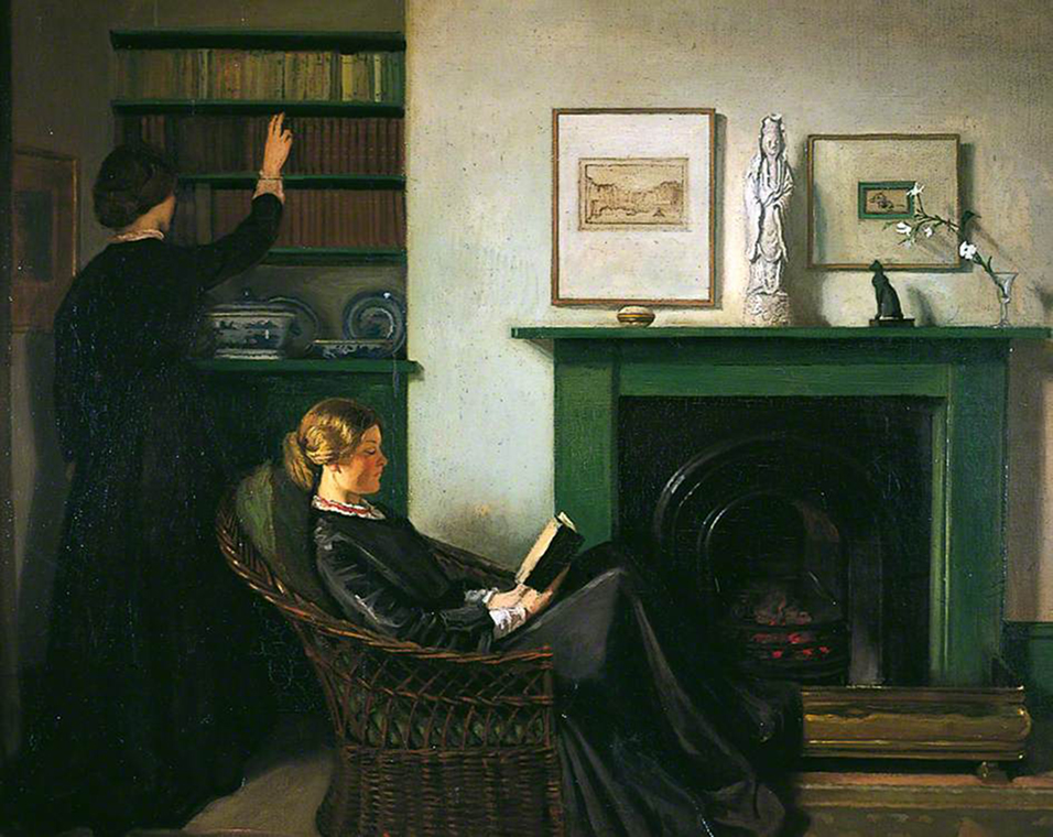 <p><b><i>The Browning Readers</i>, 1900<br/>William Rothenstein</b><br/><br/></p>