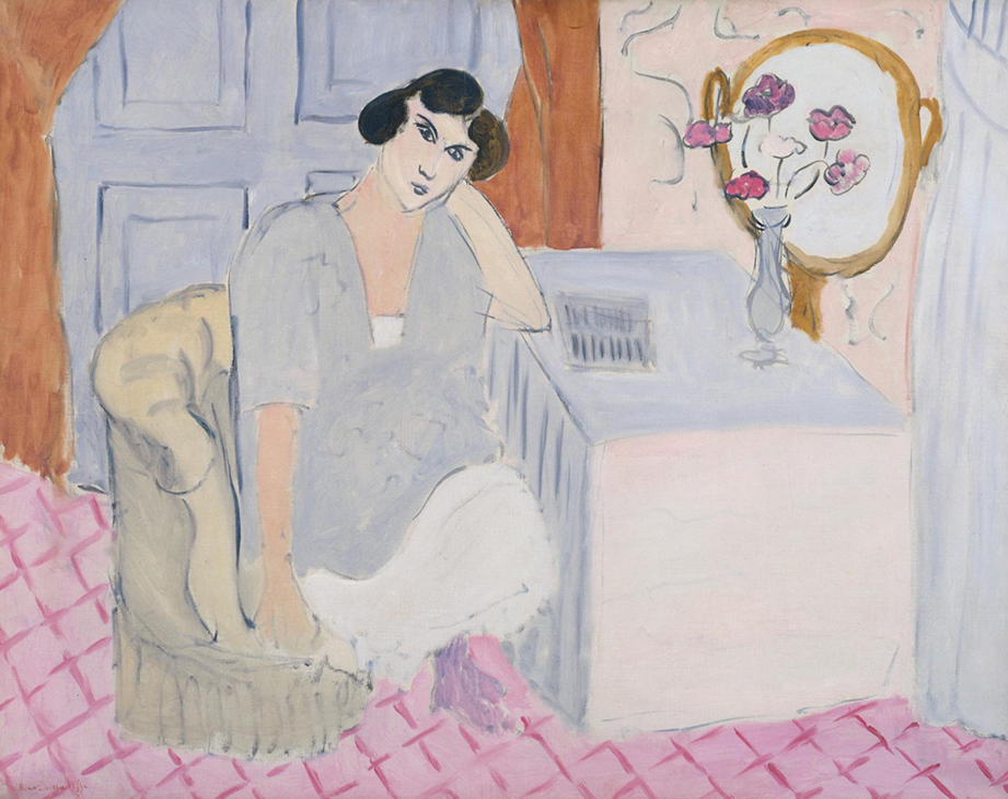 <p><b><i>The Inattentive Reader</i>, 1919<br/>Henri Matisse</b><br/><br/></p>