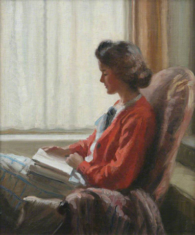 <p><b><i>A Quiet Read (Portrait <br/>of the Artist's Mother)</i>, <br/>1920<br/>Frank Jameson</b><br/><br/></p>