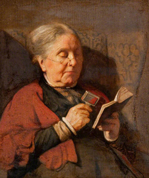 <p><b><i>An Old Woman Reading</i>, 1915<br/>Harry Clifford Pilsbury</b><br/><br/></p>