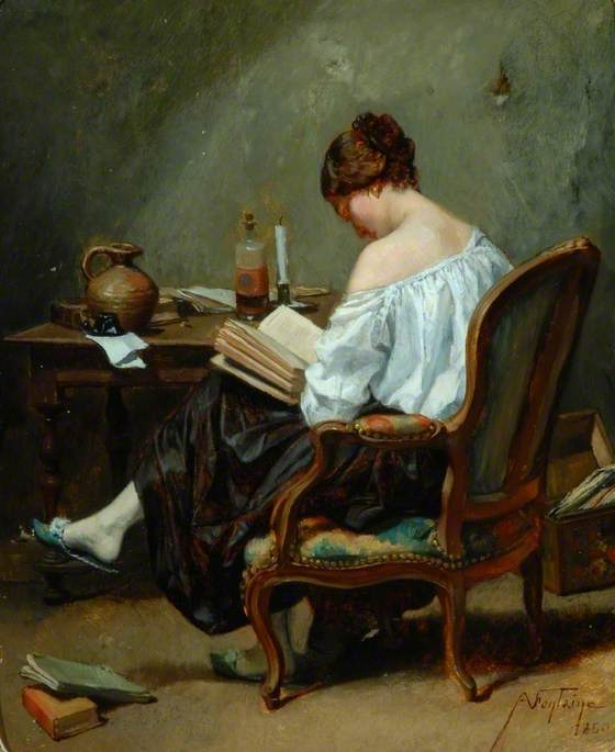 <p>Text by Beatriz Santiago Muñoz<br/><br/>For<br/><b><i>Girl Reading</i>, 1850<br/>André Fontaine</b><br/><br/>Read by Jaime Soria and Dave Buchen</p>