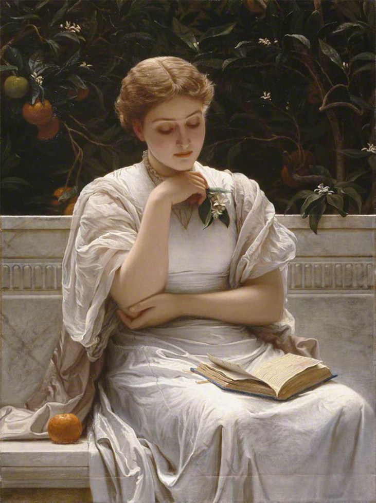 <p><b><i>Girl Reading</i>, 1878<br/>Charles Edward Perugini</b><br/><br/></p>