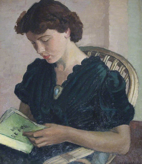 <p><b><i>Girl Reading</i>, 1920<br/>Vera Alabaster</b><br/><br/></p>