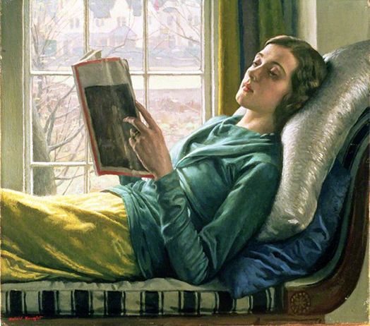 <p><b><i>Girl Reading</i>, 1932<br/>Harold Knight</b><br/><br/></p>