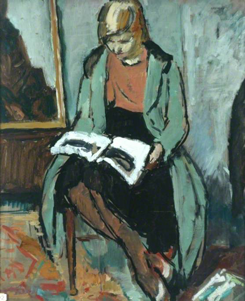 <p><b><i>Girl Reading</i>, 1930<br/>Philip Naviasky</b><br/><br/></p>