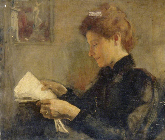 <p><b><i>My Wife Reading</i>, 1888<br/>Charles Gogin</b><br/><br/></p>