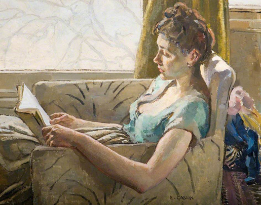 <p><b><i>Reading</i>, 1946<br/>Ethel Leontine Gabain</b><br/><br/></p>