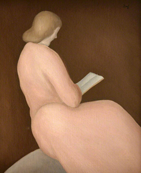 <p><b><i>Woman Reading</i>, 1943<br/>Albert Reuss</b><br/><br/></p>