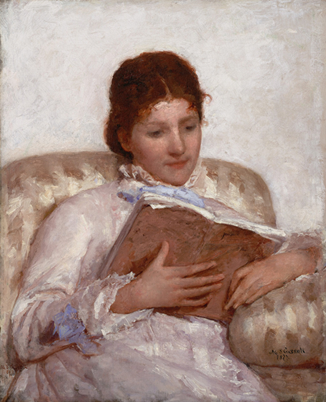 <p><b><i>The Reader</i>, 1877<br/>Mary Cassatt</b><br/><br/></p>