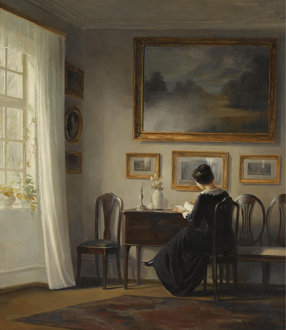 <p class='if-malak'>By Malak Helmy<br/><br/>For:<br/><b><i>Lady seated in a drawing room interior</i>, 1900<br/>Carl Vilhelm Holsoe</b><br/><br/>Read by Tricia Brioux</p><p><b><i>Lady seated in a drawing room interior</i>, 1900<br/>Carl Vilhelm Holsoe</b><br/><br/></p>